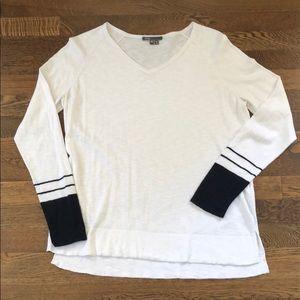 VINCE lightweight White\Navy Sweater